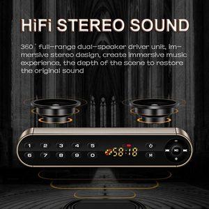 Image 3 - Портативная беспроводная стереоколонка JUNKE, Hi Fi, Bluetooth, супер бас, двойная звуковая панель с микрофоном, TF, USB, FM радио, USB, звуковая коробка