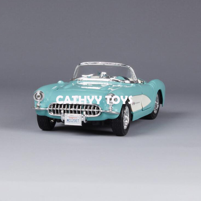 1:24 Scale 1957 Chvrolet Corvette Alloy Car Model Diecasts Toy Vehicles High Quality Collection Kids Toys Gift