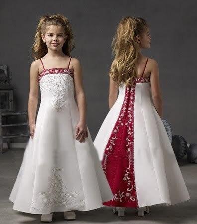 PF007 elegant sleeveless embroidery satin little girls dresses children  dress flower girl dress online free shipping 2a29f03b0