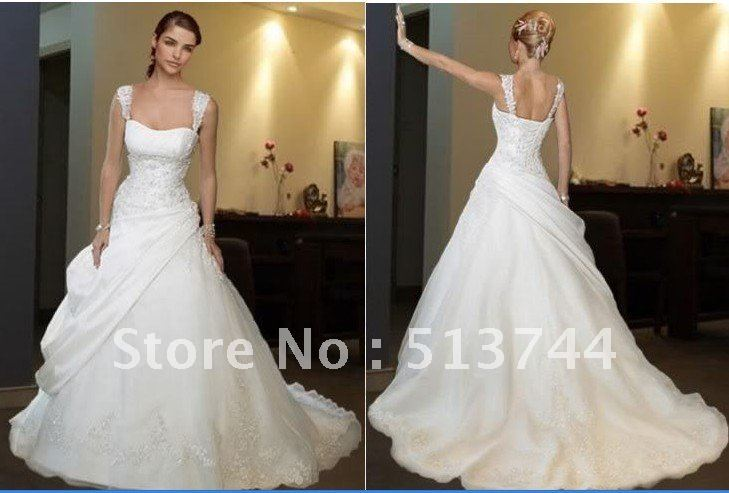 Sweetheart Stock White Lace Wedding Dress Bridal Gown