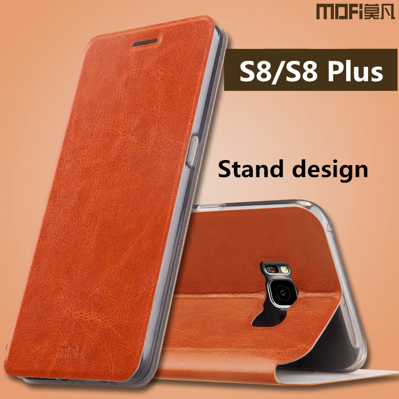 phone case for samsung galaxy s8 high quality original MOFi stand filp leather back cover for