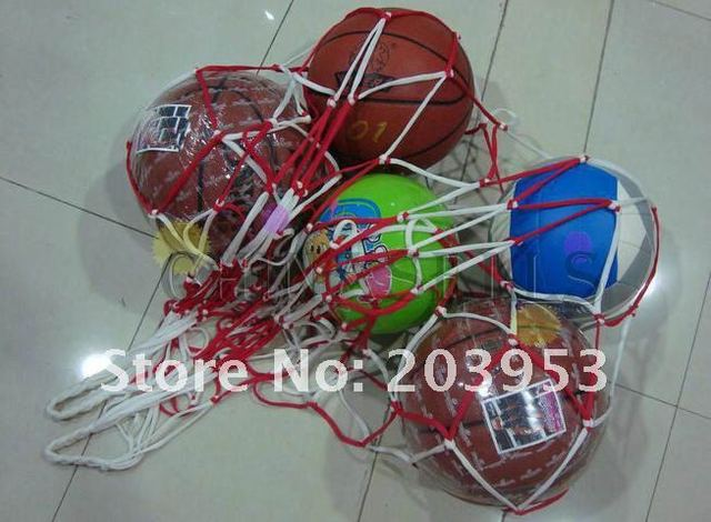 Filet de football sportif en plein air, sac de transport de 10 balles, équipement Portable de sport, sac de basket-ball, de volley-ball, 1 pièces 4