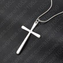 Jexxi Для женщин/Для мужчин ювелирные изделия оптом Мода 925 серебряный крест кулон Цепочки и ожерелья в стиле панк Бесплатная доставка
