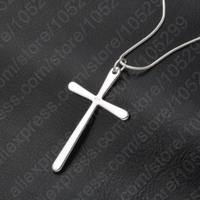 Women Men Jewelry Wholesale Trendy 925 Sterling Silver Cross Pendant Necklace Punk Style Free Shipping