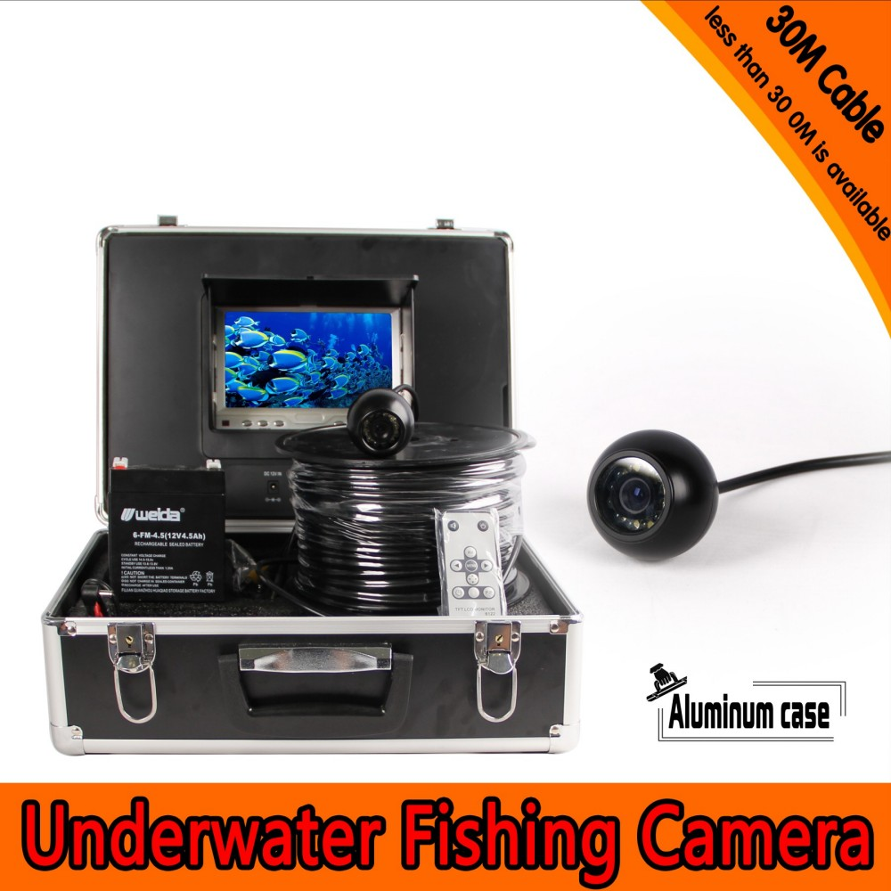 Dome Shape Underwater Fishing Camera Kit with 30Meters Depth Cable & 7Inch TFT LCD Monitor with OSD Menu & Hard Plastics CaseDome Shape Underwater Fishing Camera Kit with 30Meters Depth Cable & 7Inch TFT LCD Monitor with OSD Menu & Hard Plastics Case