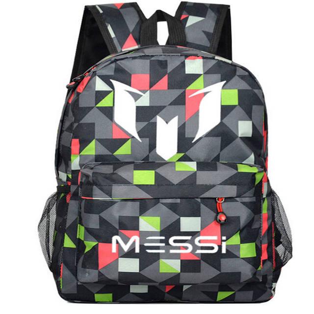 cdc1f44d09 2016 Teenagers Messi Logo School Book Backpacks Soccer Bag Fashion Shoulder  Bags Sports Travel Bag Gift For Kids Mochila Escolar