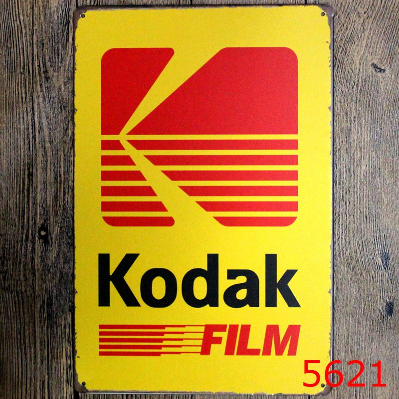 fashion 20*30cm Kodak film coffee look of bright life Tin Sign ...