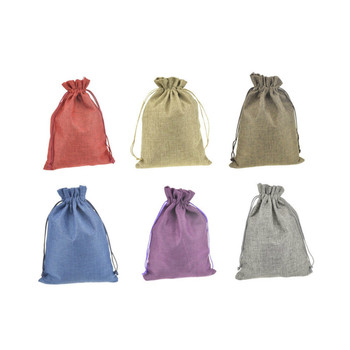 50pcs 17*23cm Linen cloth packaging bags ziplock zip lock gift jewelry candy storage bag wedding party favor pouch package
