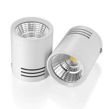 Spot lumineux led avec technologie COB, luminaire décoratif de plafond, montage en Surface, 3/5/7/12W, lampe à led, AC85 265V, LED