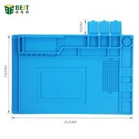 BST 00 45x30cm Heat Insulation Silicone Pad Desk Mat Maintenance Platform For BGA Soldering Repair Station