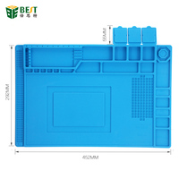 BST 00 45x30cm Heat Insulation Silicone Pad Desk Mat Maintenance Platform For BGA Soldering Repair Station