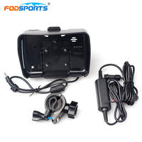 Fodsports motorcycle gps navigation accessories cradle holder with power cable with mounting bracket