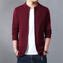 дешево!  2019 осень новый модный бренд свитер мужской молния кардиган тонкий свитер тонкий срез сплошной цвет