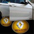 2X Porta Luz Do Projetor Do Logotipo Do Carro Para Renault Megane 2 3 Duster Logan Sandero Clio Laguna 2 Scenic Can Clip Captur Trafic Fluence