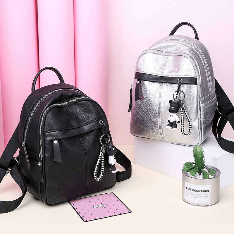 95ea903f00 ... Classic Brand Women Backpack Fashion Small School Bags For Teenager  Girls High Quality Leather Anti Theft