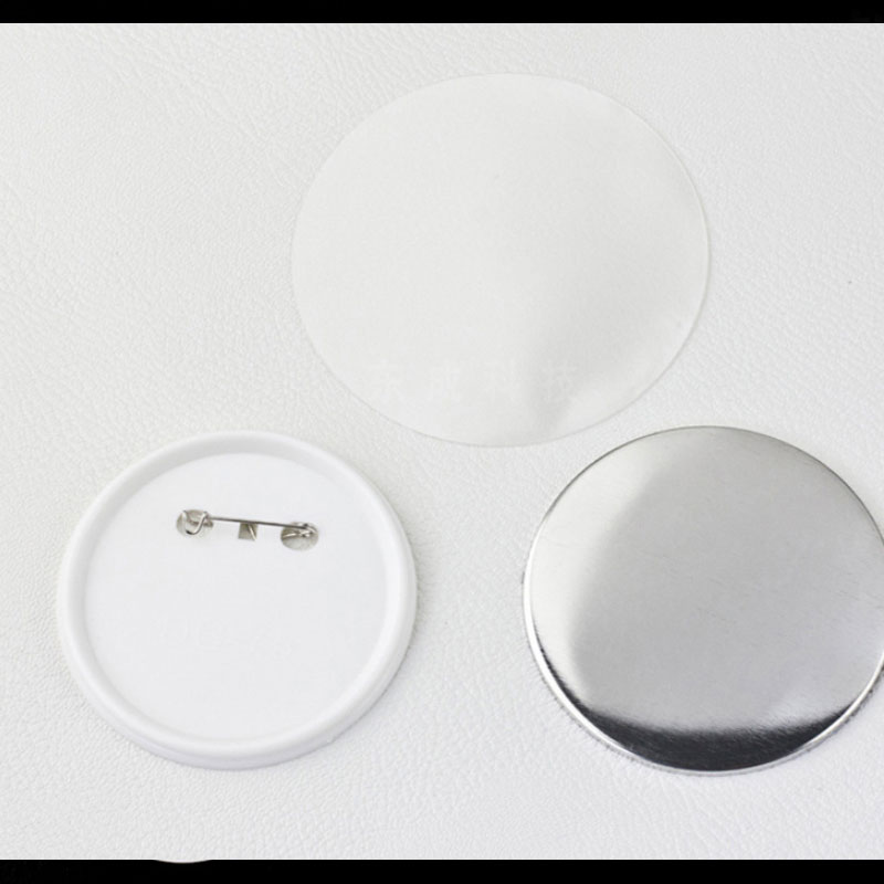 Parts Sets 75mm Blank material 56 badge Professional Pin plastics Maker 44 1000 25 37 58 metal 50 button 32 Badge
