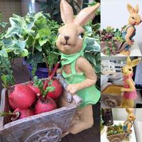 Cartoon animal flower pot rabbit resin fleshy flower pot green plant personality creative small flower pot