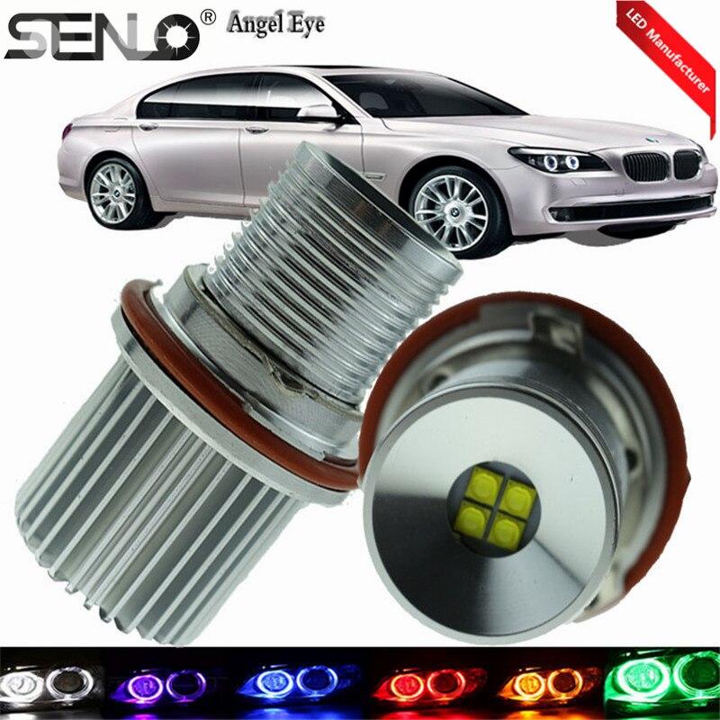 E39 Angel Eye 4 x 5Watt 1800LM LED Headlights Bulb Maker Error Free White LED Light Bulbs For BMW E87 E60 E63 E65 E66 X5 E53 M5