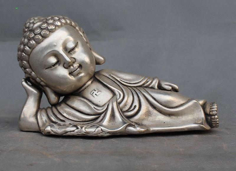 christmas Old Chinese Tibet buddhism silver sleeping sakyamuni Shakyamuni buddha statue halloweenchristmas Old Chinese Tibet buddhism silver sleeping sakyamuni Shakyamuni buddha statue halloween