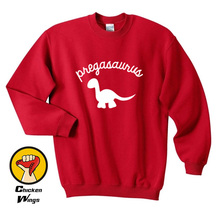 Pregasaurus Sweatshirt, Funny Pregnancy Sweatshirt Pregnancy Announcement Pregnant Crewneck Sweatshirt Unisex More Colors-D430