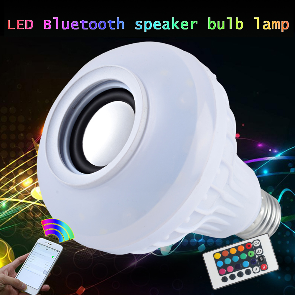 TSLEEN 85-265V E27 RGB Wireless Bluetooth Speaker Bulb Music Playing Dimmable LED Music Light Lamp Bulb + 24 Keys Remote Control н б егорова от слова к тексту английский язык учебное пособие