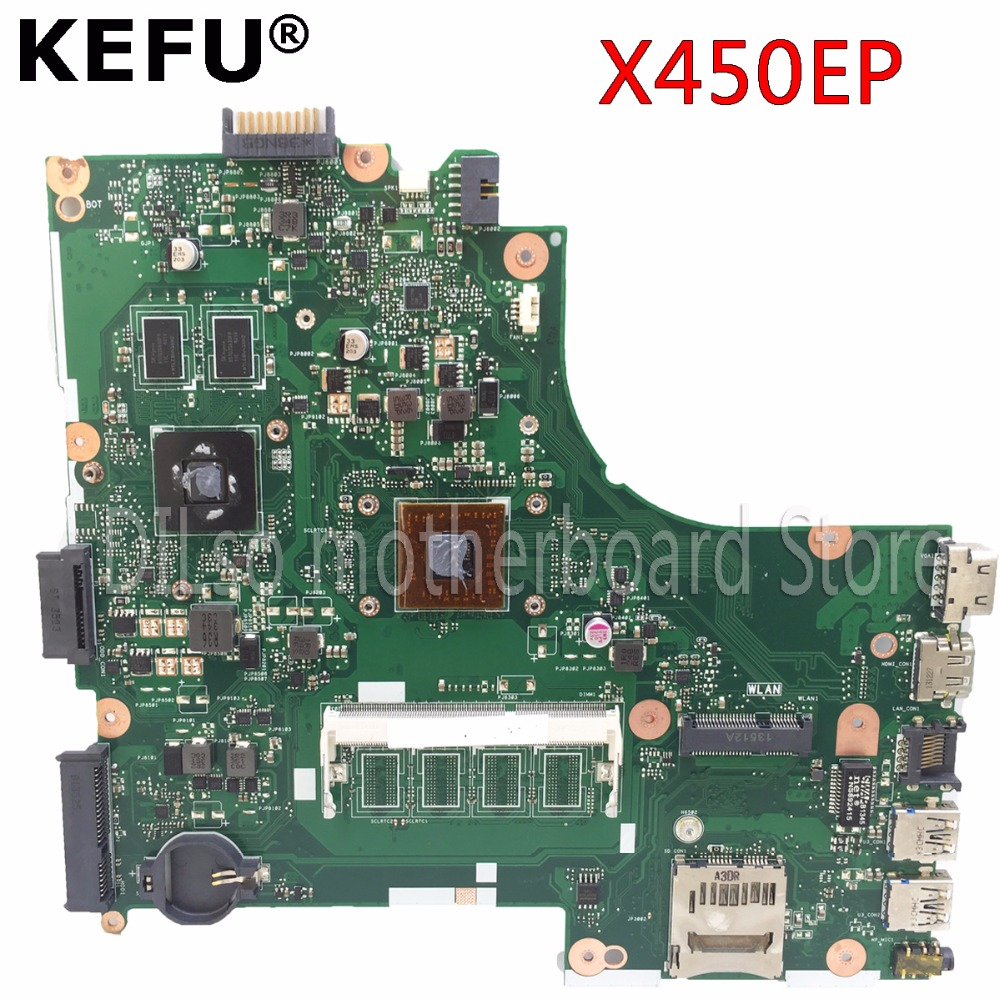 все цены на KEFU X450EP motherboard for ASUS X450EP laptop motherboard with with process original motherboard tested онлайн