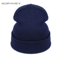 Women Hat Solid Knitted Beanie Winter Hats for Women Mens Ladies Unisex Bone Cotton Spring Autumn Keep Warm Skull Cap 2017