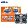 Подлинная Gillette Fusion Бритвы Лезвия Для Бритья Лезвия Бритвы для Мужчин Уходу За Лицом Брендов 4 Бит * 2