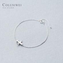 Colusiwei ручной работы цепь из самолетиков звено браслет для женщин 925 стерлингового серебра дамы подарок дизайн браслеты с животными модные ювелирные изделия