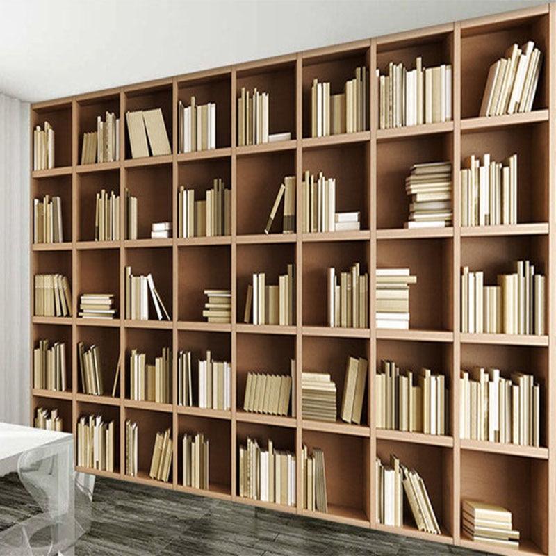 Fototapete Benutzerdefinierte 3D Stereo Bücherregal Hintergrund Wandbild  Moderne Einfache Bibliothek Wohnzimmer Schlafzimmer Inneneinrichtung Fresko  In ...