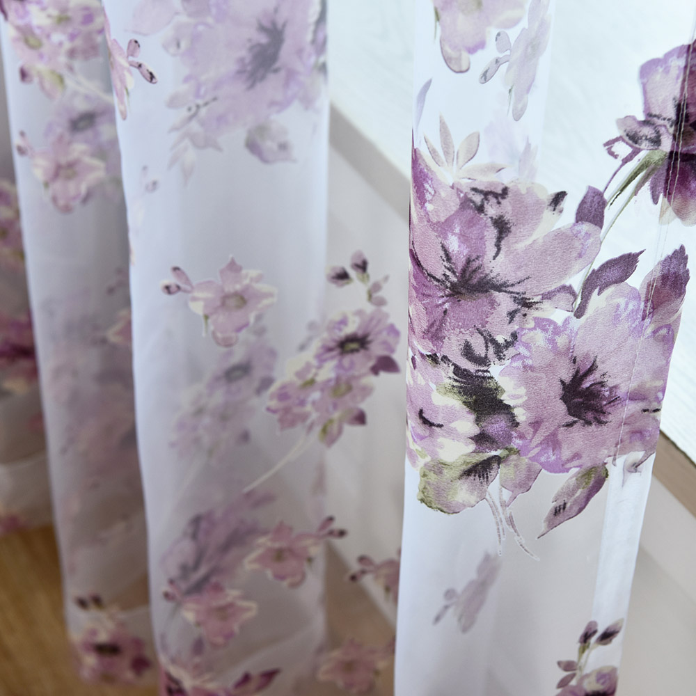 Online Kaufen Großhandel lila muster vorhänge aus China lila ...