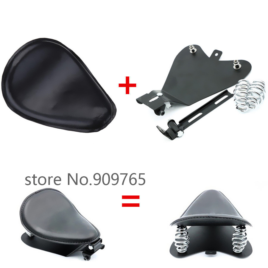Motorcycle SOLO Driver Seat Base Spring Bracket Kit For Harley Honda Yamaha Kawasaki Suzuki Sportster Bobber Chopper Custom dwcx motorcycle adjustable chain tensioner bolt on roller motocross for harley honda dirt street bike atv banshee suzuki chopper
