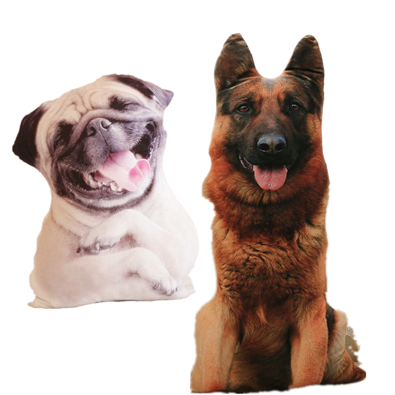 pies owczarek niemiecki kawaii pluszowe mops plushies 1 sztuk