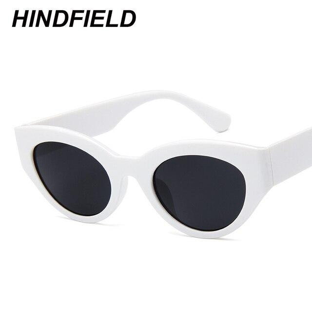 322b9812d79 White Cat Eye Sunglasses Women 2018 New Designer Small Cateye Sun Glasses  Superstar Shades Vintage Retro