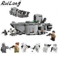 845pcs Star Wars First Order Transporter Model Building Blocks Bricks Toys Compatible With LegoINGly Starwars Children Model