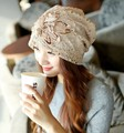 Hat Lady winter lace Korean double flowers and so on warm wind