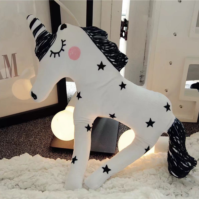 38*30cm Plush Pillows Plush Unicorn Horse Toys Kids Soft Stuffed Figure Toy Hot Toy for Children Boys Girls Gift Free Shipping ...