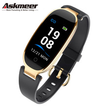 ASKMEER S3 Women Smart Wristband IP67 Waterproof Fitness Tracker Bracelet Color Screen Dynamic Heart Rate Smart Health Bracelet