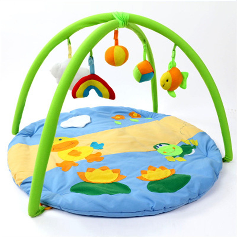 New Baby Blanket Cartoon Game Play Carpet Child Toy Climb Mat Indoor Gift Kid Gym Fitness Rattle Playmat Floor Carpet Paradise 120cm play mat baby blanket inflant game play mats carpet child toy climb mat indoor developing rug crawling rug carpet blanket
