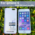 No jailbreak dual sim tarjeta dual sim adaptador de hacer llamadas sms de socool batería de larga espera para iphone 6