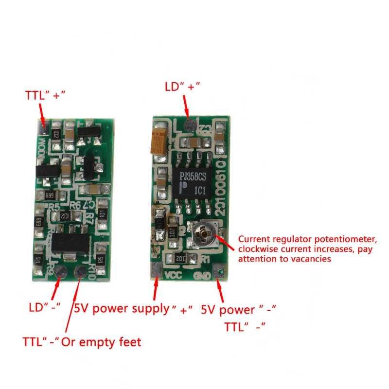635nm 650nm 808nm 980nm TTL الليزر ديود لوحة للقيادة محرك 5V امدادات 50-300mA