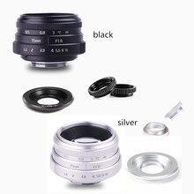 Neue kommen FUJIAN 35mm f1.6 C mount kamera CCTV Objektiv II für M4/3/MFT Mount Kamera & Adapter