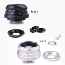 Nouvelle arrivée FUJIAN 35mm f1.6 C monture caméra CCTV objectif II pour M4/3/MFT montage caméra et adaptateur