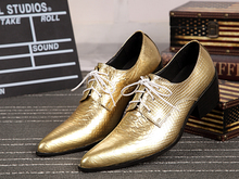Luxury gold mens dress shoes iron pointed toe oxford shoes for men wedding loafers mens italian leather shoes flats size 13 berdecia new mens glitter wedding shoes italian pointed toe mens shoes slip on oxford shoes for men