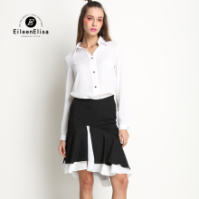 New Runway Sets 2017 For Women Spring Runway Fashion Blouse And Skirts Set Ladies Office Suit