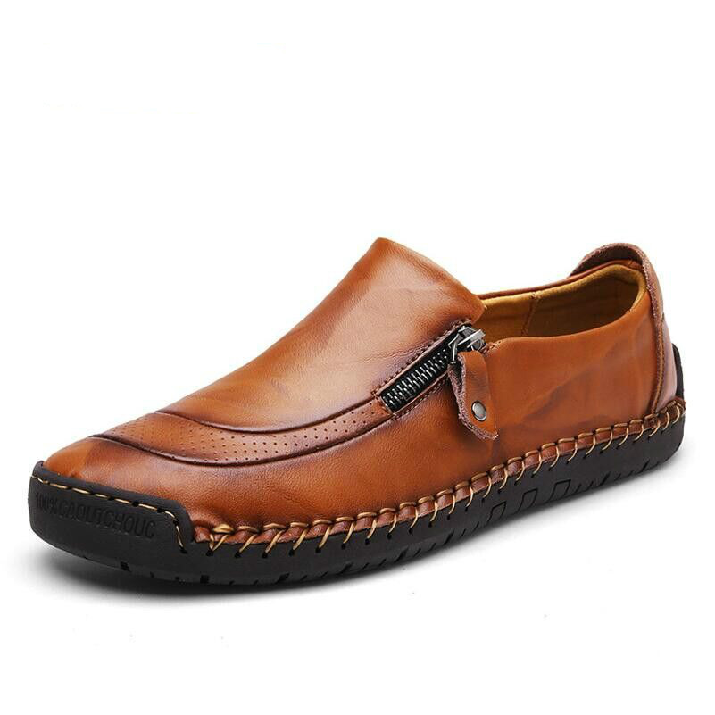 2018 ハンドメイドの革ローファーの靴男性靴ファッションメンズフラッツ絶妙なデザインのスリップ快適な男性カジュアルシューズ  グループ上の 靴 からの メンズカジュアルシューズ の中 1