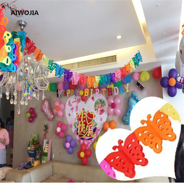 3M Paper Pull Flower Party Party Roof Decoration Pull Flower Marriage Room  Decorative Paper Wreath Wedding