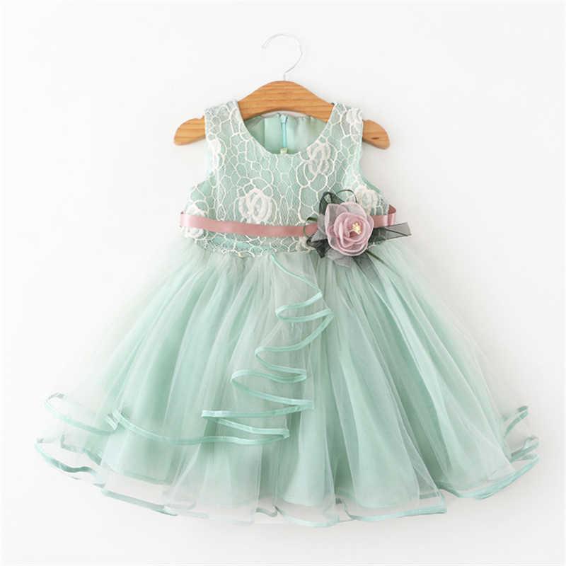 f2299f2bf3be7a1 Новый бренд цветок платье принцессы с цветочным рисунком Одежда для девочек  детей 2nd на день рождения