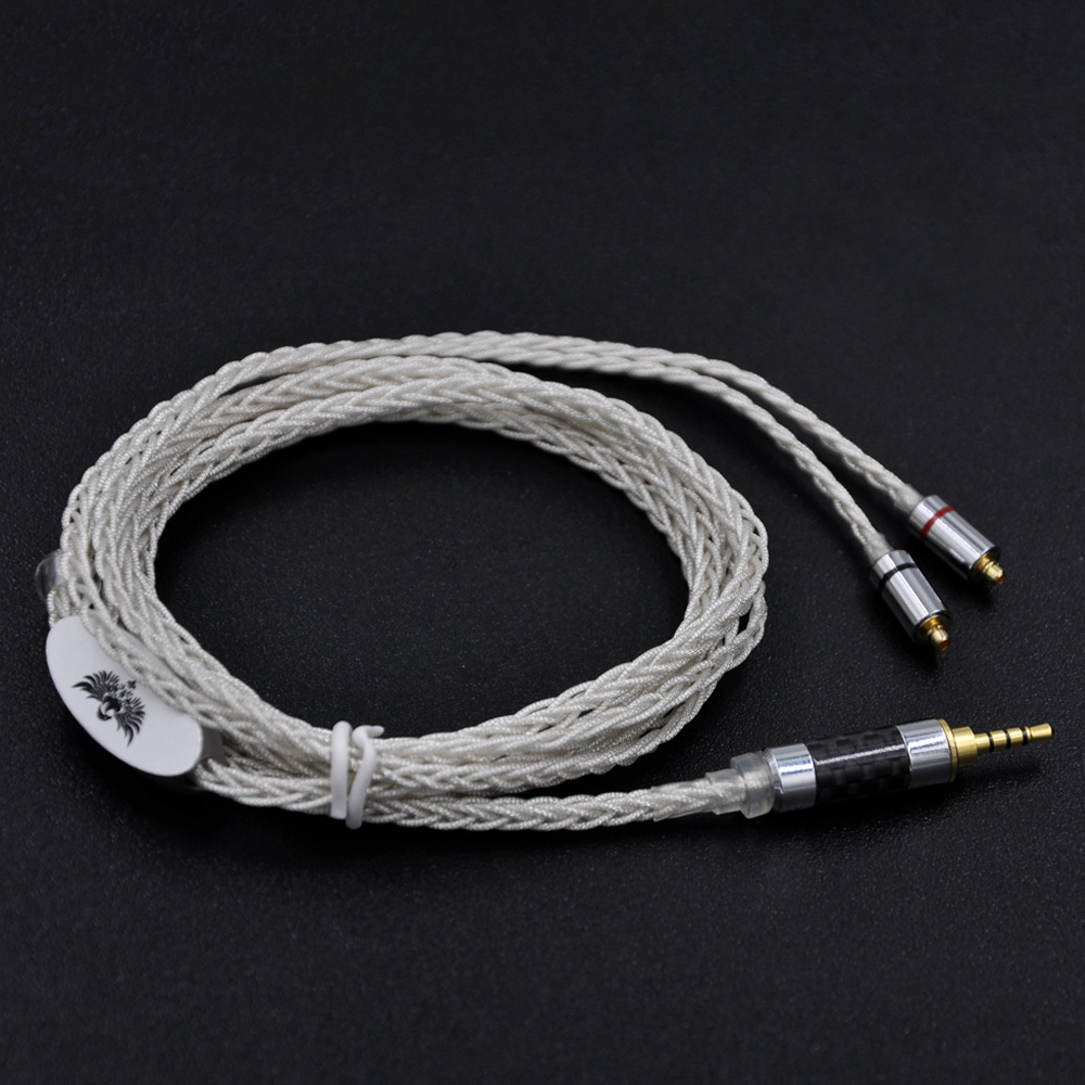 2017 New Silver Plated 8 Core Cable Earphone Upgrade Cable for SE215 SE535 LZ A4 DQSM With MMCX Connector GXX-020 professional new silver plated trumpet bb keys with monel valves horn case