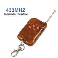 433 mhz rf relé receptor módulo sem fio 4 ch saída com botão de aprendizagem e 433 mhz rf controle remoto transmissor diy